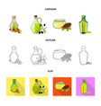 isolated object of healthy and vegetable logo set vector image