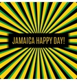 Jamaica happy day Greeting card vector image