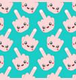 kawaii pattern seamless cute cartoon funny vector image vector image