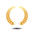 laurel wreath icon gold symbol icon on white vector image