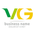 letter v combination g alphabet lettering vector image vector image