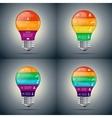 lightbulb set for infographic vector image