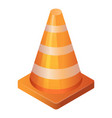 marking road cone icon isometric style vector image vector image