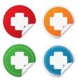 Medical cross sign icon Diagnostics symbol vector image