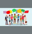 people group chat communication bubble vector image