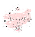 pink blush baby shower vector image