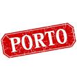 Porto red square grunge retro style sign vector image vector image