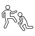 public fight violence icon outline style vector image vector image