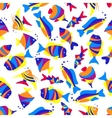 Seamless colorful exotic fishes pattern vector image vector image