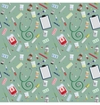 seamless pattern with medical icons vector image