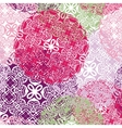 seamless pattern with stylized flowers vector image vector image