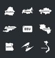 set of eurasian economic union vector image