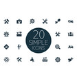 set of simple repairing icons vector image vector image