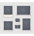 Set of vintage photo frames vector image vector image