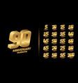 set trendy anniversary logotype vector image vector image