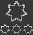 Silver line star logo design set vector image vector image