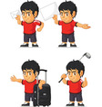 Soccer Boy Customizable Mascot 16 vector image vector image