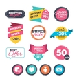 Social media icons Chat speech bubble and Mail vector image vector image