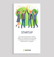 startup achievement for best team in competition vector image vector image