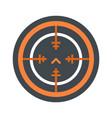 svd gun aim icon flat style vector image vector image