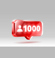 thank you followers peoples 1k online social vector image vector image