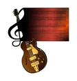 treble clef stave jazz guitar vector image vector image