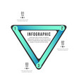 triangle infographic design element eps 10 vector image vector image