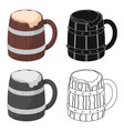 viking ale icon in cartoon style isolated on white vector image vector image