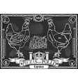 Vintage Blackboard of Spanish Cut of Chicken vector image vector image