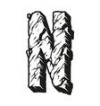 vintage letter n in desert design vector image vector image