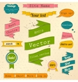 Vintage website design elements set vector image vector image