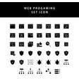web programing glyph style icon set vector image vector image
