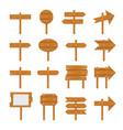 wooden signboards wood arrow vector image vector image