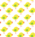 yellow chicken on white background seamless vector image vector image