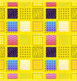 yellow square seamless pattern vector image vector image