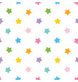 cute colorful stars seamless pattern background vector image