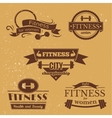Fitness signs set sport logos and labels vector image