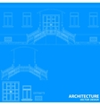 Blue architecture background vector image