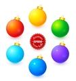 Rainbow colors Christmas balls set vector image