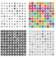 100 world tour icons set variant vector image vector image