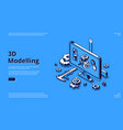 3d modelling isometric landing page cad model