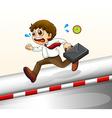 A man running hurriedly vector image vector image