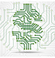 abstract symbol dollar of circuit board vector image vector image