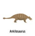ankilosaurus icon flat style vector image vector image