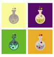 assembly flat icons halloween potion bottle vector image vector image
