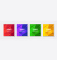 banner set collection flyer abstract triangular vector image