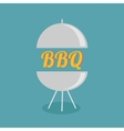 BBQ grill party invitation card Flat design icon vector image vector image
