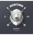 bear hunting society vector image