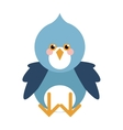 blue bird flat icon vector image