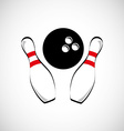 bowling game design vector image vector image